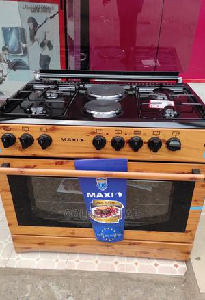 Brand New Maxi Stand 4 Gas 2 Electric Auto Ignition + Oven   Kitchen Appliances for sale in Lagos State, Ojo