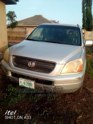 Honda Pilot 2004 EX-L 4x4 (3.5L 6cyl 5A) Silver | Cars for sale in Lagos State, Ikorodu