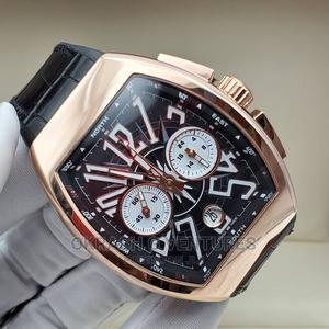 Franck Muller Chronograph Rose Gold Leather Strap Watch | Watches for sale in Lagos State, Lagos Island (Eko)