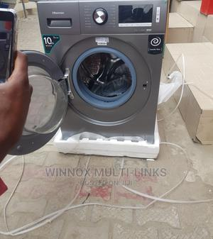 Bigger 10kg Hisense Inverter Wash and Fully Dry Machine   Home Appliances for sale in Lagos State, Ajah