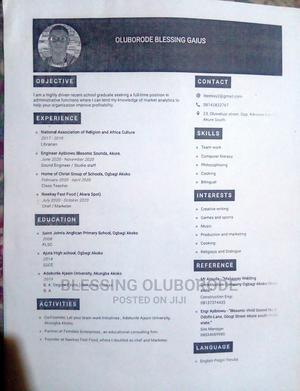 Teaching CV | Teaching CVs for sale in Benue State, Makurdi