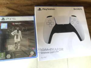 Sony Ps5 Controller +Fifa21 PS5 | Video Game Consoles for sale in Lagos State, Ojo