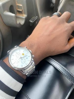 Neatly Used Steel Luxury Men's Wrist Watch Silver   Watches for sale in Lagos State, Ikorodu