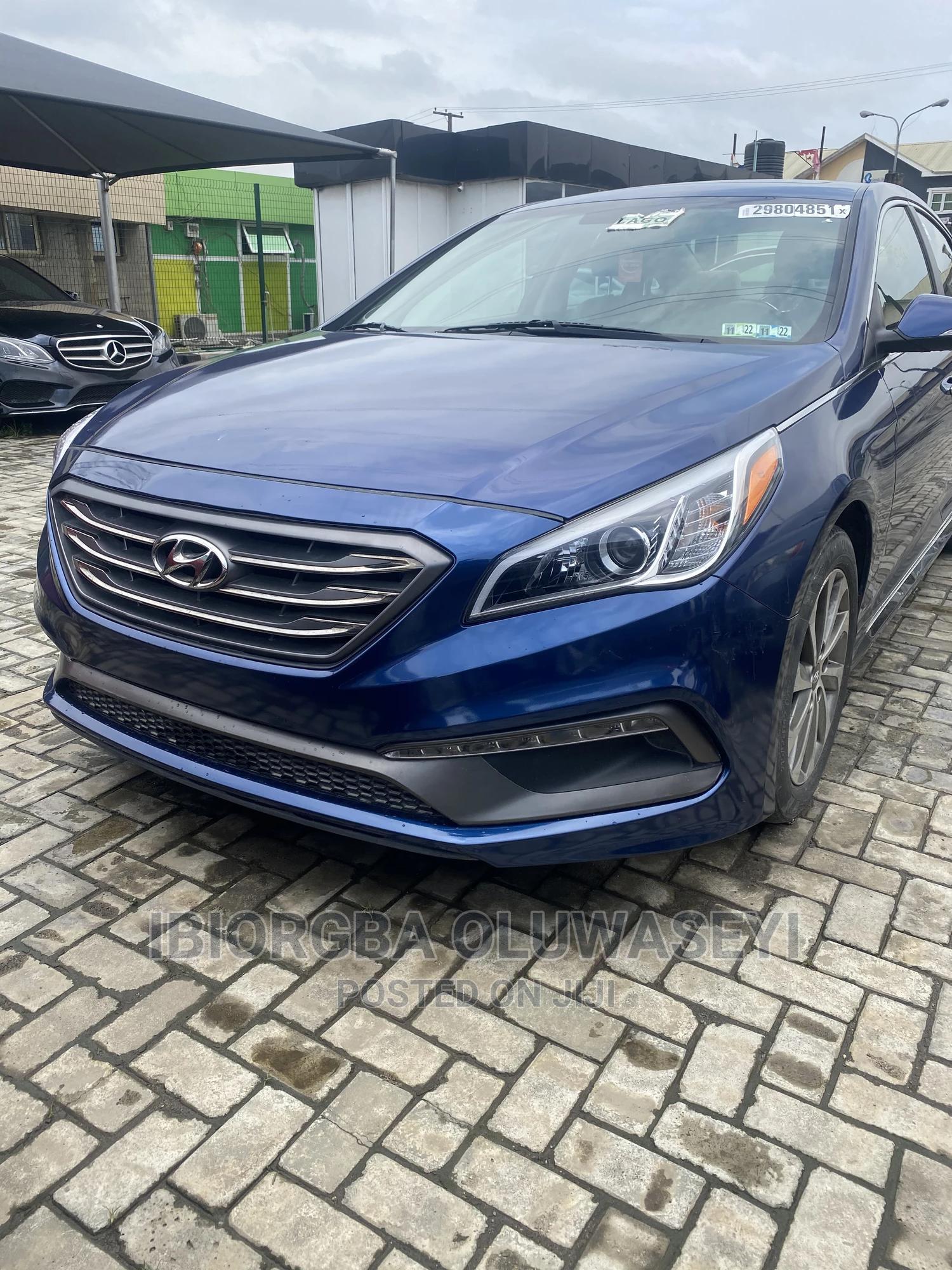 Hyundai Sonata 2016 Blue   Cars for sale in Ajah, Lagos State, Nigeria