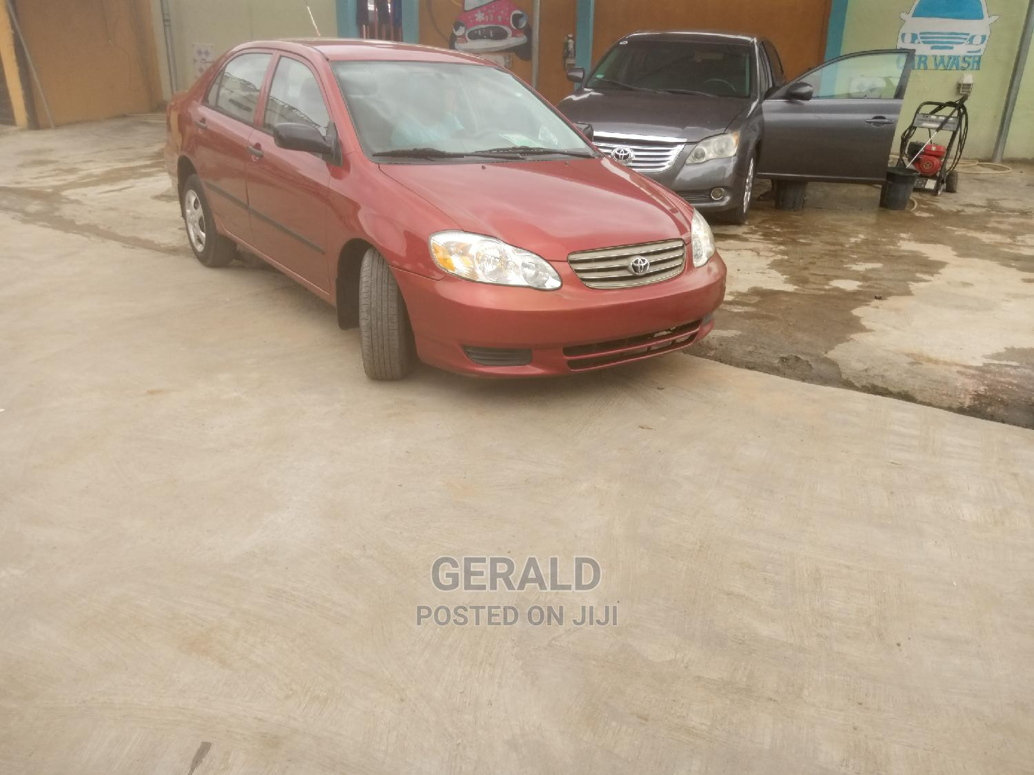 Toyota Corolla 2003 Sedan Automatic Red   Cars for sale in Ogba, Lagos State, Nigeria