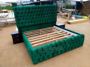 Upholstery Swede Bed | Furniture for sale in Lagos State, Ikeja