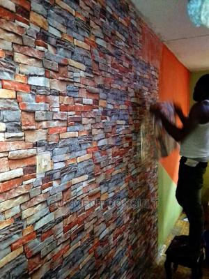 Installation of 3D Wallpaper, Wall Panels (Alimosho) | Building & Trades Services for sale in Lagos State, Alimosho