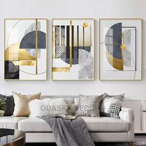 Golden Abstract Stitches Canvas Painting | Arts & Crafts for sale in Lagos State, Maryland
