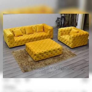 4seater Chesterfield Sofa With Ottoman Tufted to Perfection   Furniture for sale in Lagos State, Isolo