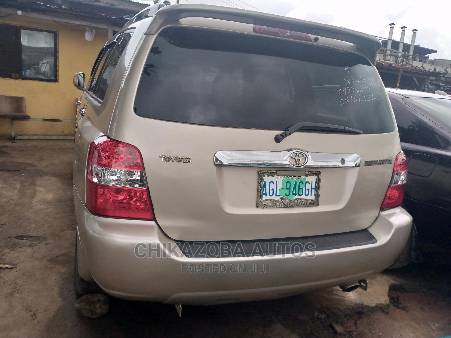 Toyota Highlander 2005 4x4 Gold | Cars for sale in Ikeja, Lagos State, Nigeria
