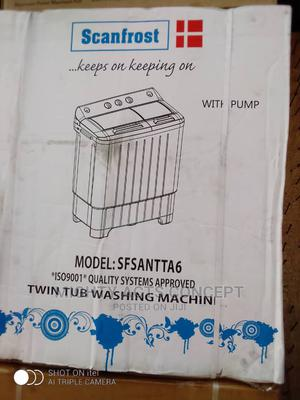 Scanfrost Twin Tub Washing Machine With Spinning 6kg   Home Appliances for sale in Lagos State, Kosofe