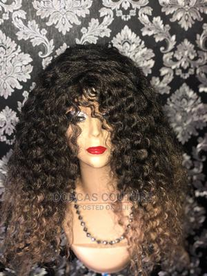 Afro Women Kinky Curly Wavy Synthetic Wig   Hair Beauty for sale in Oyo State, Ibadan