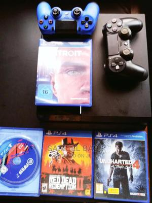 Neatly Used Playstation 4 , With the Order 1886 and 2 Pads   Video Game Consoles for sale in Lagos State, Abule Egba