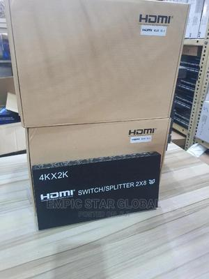 2x8 Port HDMI Splitter\Switcher Supports 3D 4k/2k | Networking Products for sale in Lagos State, Ikeja