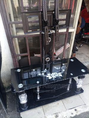Glass Tv Stand With Wall Bracket | Furniture for sale in Rivers State, Obio-Akpor