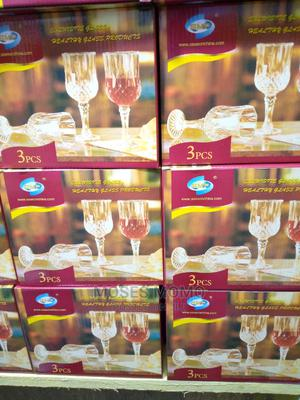 3pcs of Wine Glass Cup Good Quality | Kitchen & Dining for sale in Lagos State, Lagos Island (Eko)