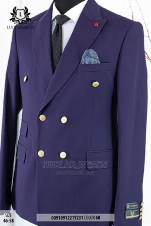 Purple Double Breasted Suit for Men | Clothing for sale in Lagos State, Lagos Island (Eko)
