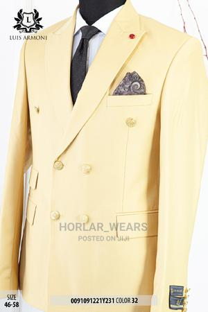Cream Double Breasted Suit for Men | Clothing for sale in Lagos State, Lagos Island (Eko)
