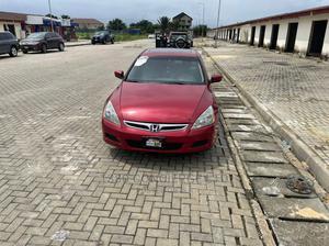 Honda Accord 2007 Sedan EX-L Automatic Burgandy | Cars for sale in Lagos State, Ajah
