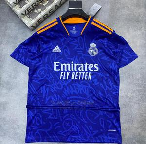 Real Madrid Official 21/22 Away Blue Jersey   Clothing for sale in Lagos State, Surulere