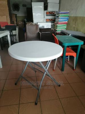 Plastic Folding Circle 4feet Table With Metal Leg | Furniture for sale in Abuja (FCT) State, Wuse