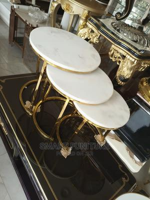 Cooperate Marble Top Sidestool Table   Furniture for sale in Lagos State, Lekki