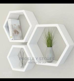 3pcs HEXAGON FLOATING SHELVES SET . Made of Wood . Colours: | Home Accessories for sale in Lagos State, Ikeja