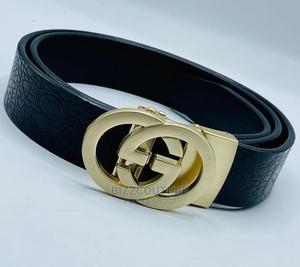 High Quality GUCCI Black Leather Belts for Men | Clothing Accessories for sale in Abuja (FCT) State, Asokoro