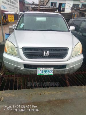 Honda Pilot 2004 EX 4x4 (3.5L 6cyl 5A) Silver | Cars for sale in Lagos State, Ejigbo
