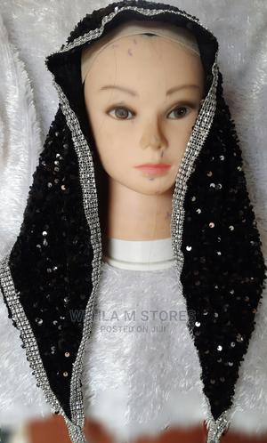 Velvet Sequinned Scarf (Sequence Scarf) - Black | Clothing Accessories for sale in Lagos State, Ikotun/Igando