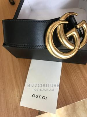 High Quality GUCCI Leather Black Leathers Belts for Men | Clothing Accessories for sale in Abuja (FCT) State, Asokoro