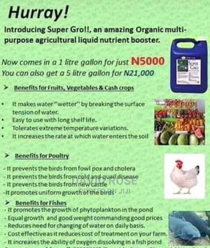 Organic Liquid Fertilizer Super Gro | Livestock & Poultry for sale in Ekiti State, Ado Ekiti