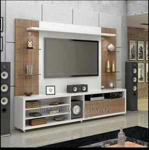 Unique Designed T.V Stands With Shelves | Furniture for sale in Lagos State, Ikeja
