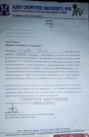 Internship CV | Internship CVs for sale in Lagos State, Ajah