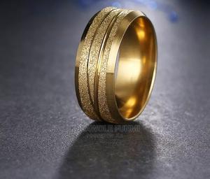 18carat Gold Steel Men's Ring- Size10 | Wedding Wear & Accessories for sale in Oyo State, Ibadan