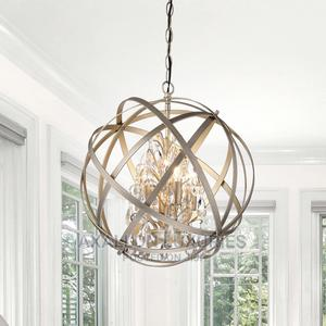 Benita Champagne Metal and Crystal Orb 4-Light Chandelier | Home Accessories for sale in Lagos State, Ikeja