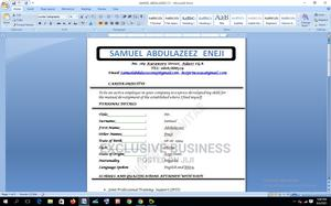 Computing IT CV | Computing & IT CVs for sale in Abuja (FCT) State, Karmo