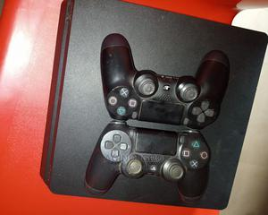 Ps4 Slim With 2 Pads and Wwe 2k20 for Sale | Video Game Consoles for sale in Edo State, Benin City