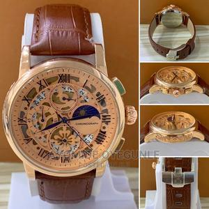 Working Chronograph Leather Strap Wrist Watch | Watches for sale in Lagos State, Surulere