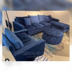 L-Shaped With One Single an Ottoman Can Come in Colors   Furniture for sale in Lagos State, Amuwo-Odofin