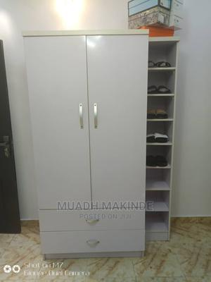 Two Doors Wardrobe With Shoe Rack | Furniture for sale in Lagos State, Mushin