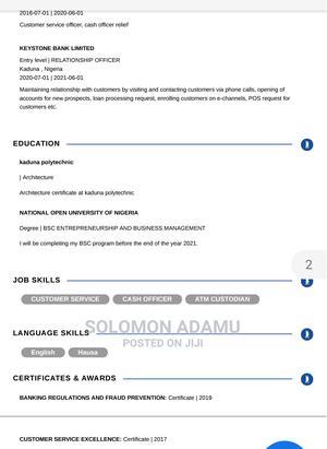 Management Cv | Management CVs for sale in Kaduna State, Kaduna / Kaduna State