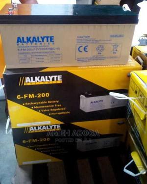 Alkalyte 12V 200ah Deep Cycle Battery- Free Delivery | Solar Energy for sale in Lagos State, Alimosho