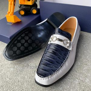 Lovely Men's Shoes Luca Dolci White Mix With Blue | Shoes for sale in Lagos State, Lekki