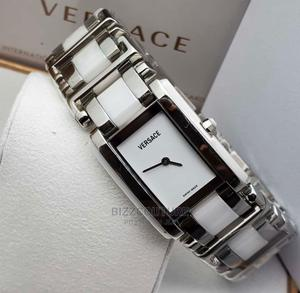 High Quality VERSACE Silver White Chain for Ladies   Watches for sale in Abuja (FCT) State, Asokoro