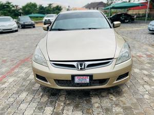 Honda Accord 2007 Sedan EX-L Automatic Gold | Cars for sale in Abuja (FCT) State, Kubwa