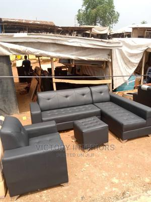 L- Shaped Leather Sofa With a Single Center Table   Furniture for sale in Lagos State, Apapa