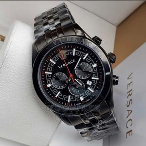 High Quaality VERSACE Black Dial Stainless Steel for Men   Watches for sale in Abuja (FCT) State, Asokoro