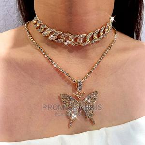Cuban and Butterfly Necklace   Jewelry for sale in Lagos State, Ejigbo