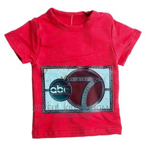 Short Sleeve Round Neck With Special Design-Wine and Multi | Children's Clothing for sale in Lagos State, Ojota